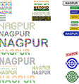 Nagpur text design set vector image vector image
