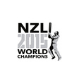 New Zealand NZ Cricket 2015 World Champions vector image vector image