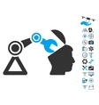 Open Head Surgery Manipulator Icon With Air Drone vector image vector image