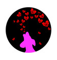 pink dog was howling to the moon a small red vector image vector image