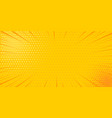 pop art yellow comics book cartoon magazine cover vector image vector image
