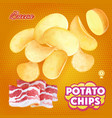 potato chips advertising bacon flavor vector image vector image