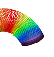 rainbow spiral spring on white vector image