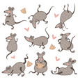 rat with cheese chinese new year symbol isolated vector image vector image