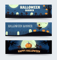 retro halloween time background concept in style vector image