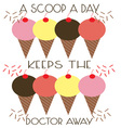Scoop A Day vector image vector image