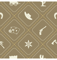 Seamless background with cowboys and wild west vector image vector image