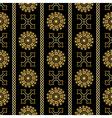 seamless gold vintage ornamental pattern vector image vector image