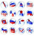 set political buttons vector image vector image
