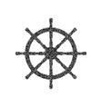 ship wheel sign black icon from many vector image vector image