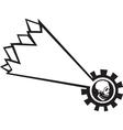Shooting Star Skull vector image vector image