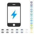smartphone electricity icon vector image