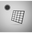 Solar energy panel icon vector image vector image