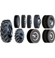 truck wheels set vector image vector image