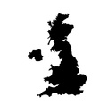 UK map vector image vector image