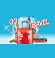 vacation travelling concept go travel travel vector image vector image
