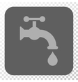 Water Tap Rounded Square Button vector image