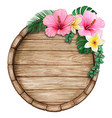watercolor tropical wooden sign vector image vector image