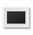 White wooden frame for picture or text vector image vector image