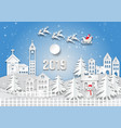 winter season with snowflake of merry christmas vector image vector image