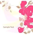 Floral background card frame vector image