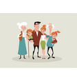 big happy family picture vector image