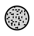 black sections silhouette of circle with macro vector image