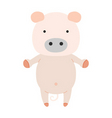 a cute s pig cartoon vector image vector image
