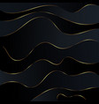 abstract black waves background gold glitters wave vector image vector image