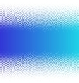 Abstract colorful blue halftone dots horizontal vector image vector image