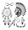 American Indian Clipart Icons and Elements vector image vector image