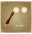 an ancient monocle vector image vector image