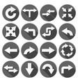 arrow icons set of black round icons with white vector image