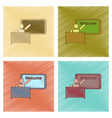 assembly flat shading style icon table board vector image vector image