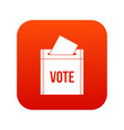 ballot box icon digital red vector image vector image