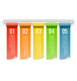 banner rolled infographics five options template vector image