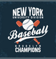 baseball new york vintage typography for t-shirt vector image