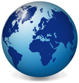 Blue earth globe vector image vector image