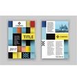 Brochure template design Concept of square design vector image
