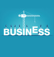 business finance and industry concept vector image