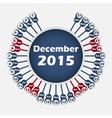 calendar 2015 December template vector image vector image