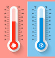 celsius and fahrenheit thermometers measuring vector image