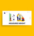 child height measuring landing page template vector image vector image