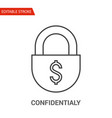 confidentialy icon thin line vector image vector image