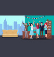 corporate party in office vector image vector image
