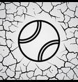cracks circle tennis vector image vector image