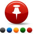 Drawing-pin icons vector image
