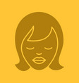 dreaming girl glyph color icon vector image