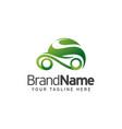eco car logo template design vector image vector image