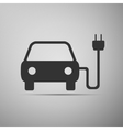 Electric powered car symbol icon vector image vector image